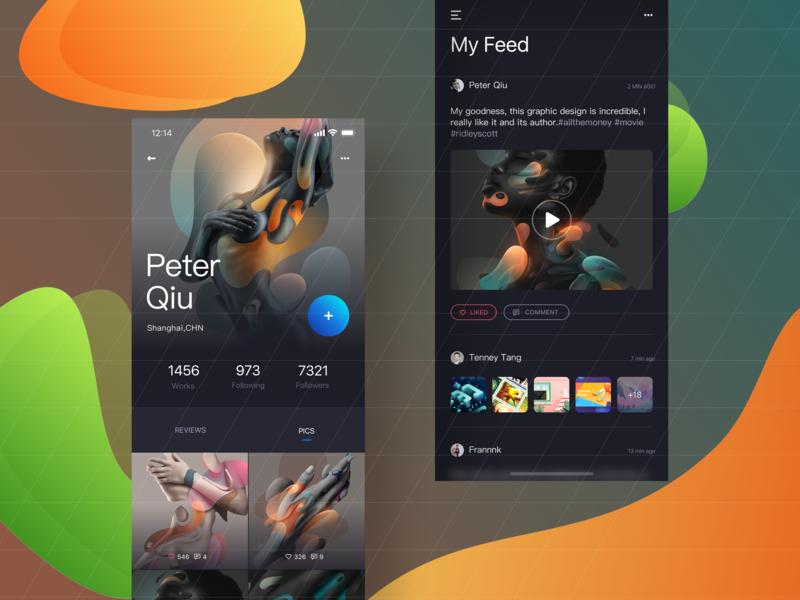 Social media APP-User Interface Design ui app social media