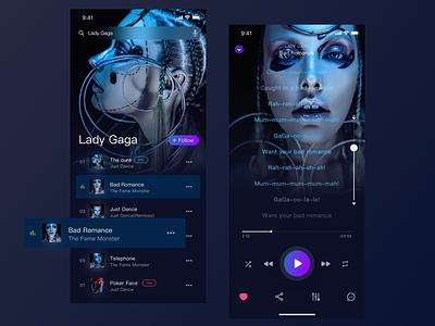 Music player app design - popular art music player app 设计 应用 ui popular
