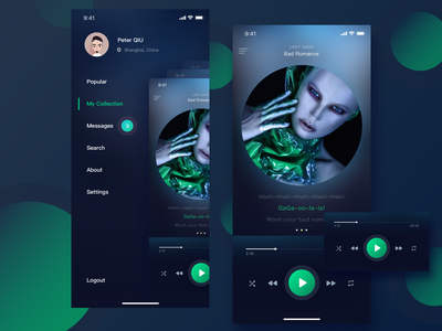 Music player app design - Personal center music album personal center music artwork music app music 设计 ui 应用