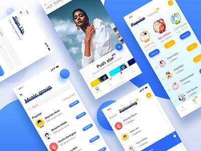 Xingban app popular social 设计 流 ui 应用 social pop
