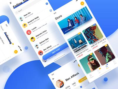 Xingban app popular social portfolio app social ui pop