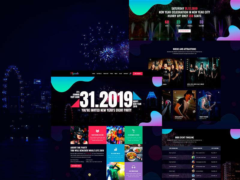 Happy New Year 2019 by Somrat Islam on Dribbble