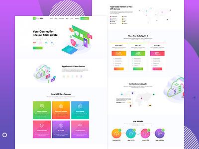 Product VPN typography vector branding creative design ui responsive illustration