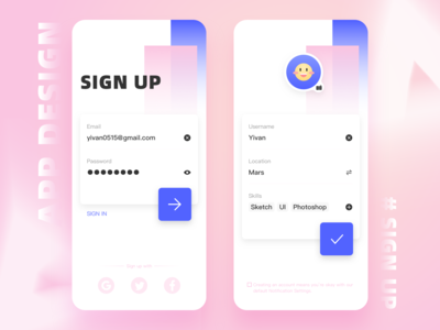 #Daily UI# Sign up