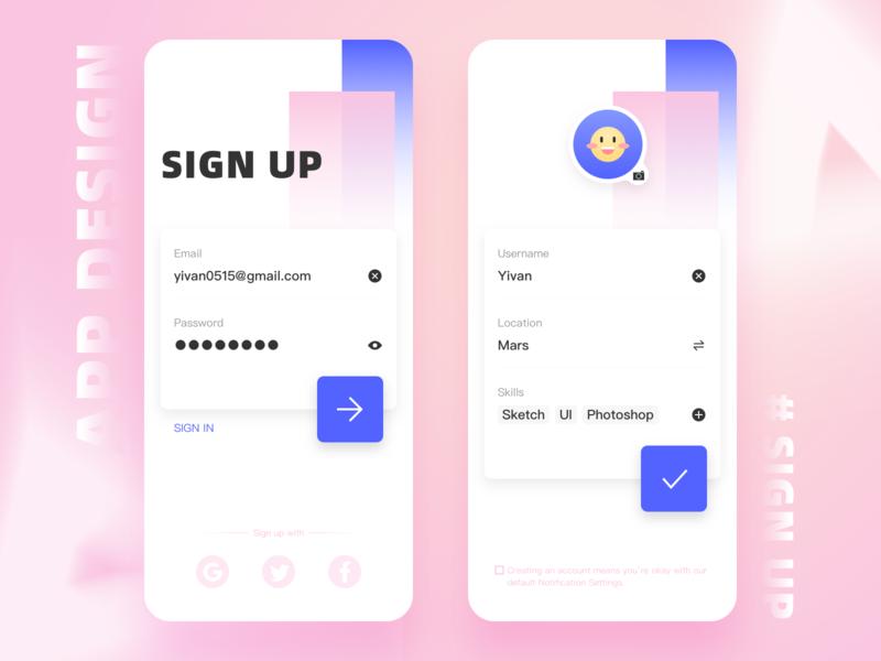 #Daily UI# Sign up dailyui ux app ui