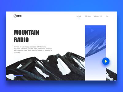 #Daily UI# Mountain Radio Landing Page