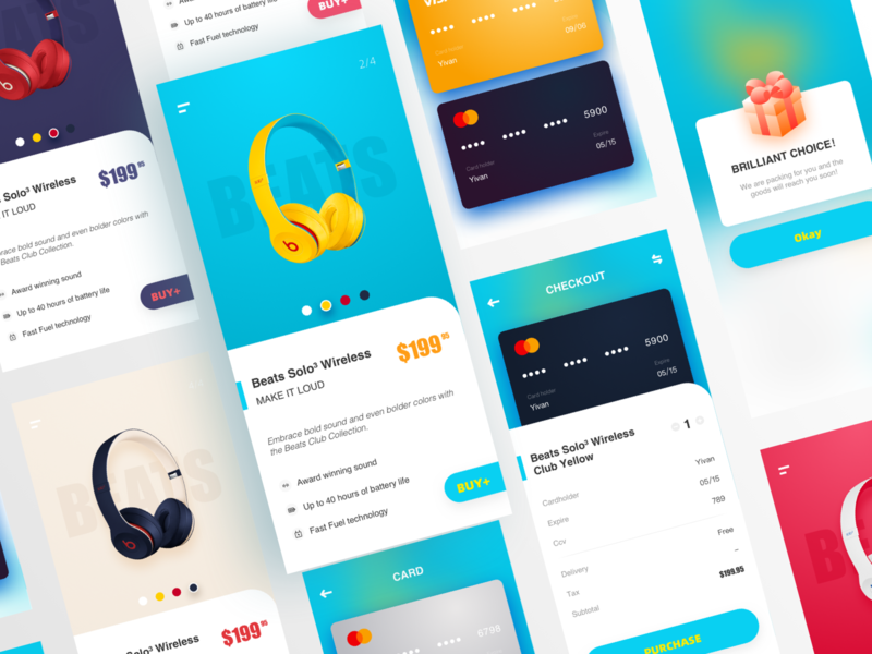 Earphone purchase UI design app ux ui