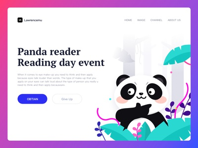 Panda reader illustration
