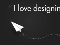 Paper Plane + Type