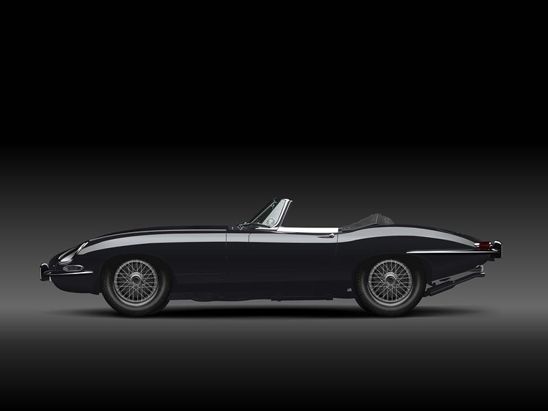 Jaguar E Type (In Vectors) drawing e-type jaguar vectors car vector illustration fireworks