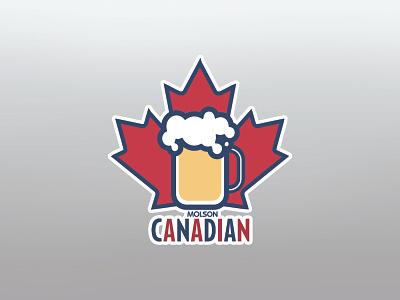 Molson Canadian maple molson canadian jug beer jug beer stickermule canada