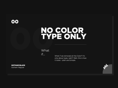 Type Only - 00 flat illustration bw black  white color only type typography illustration