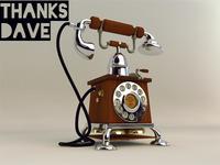 New Vintage Telephone 3D Model