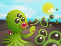 Three-eyed Alien Squid