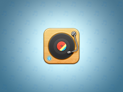 iOS Vinyl Player ios vinyl player vinyl record icon retro wood iphone