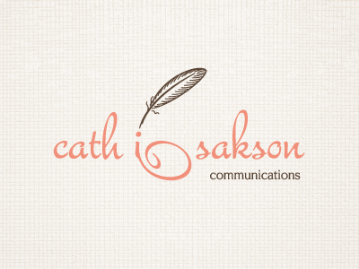 Cath Isakson - Dotting the Is feather typography logotype logo type writing handwriting