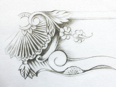 Embossing for SA Boxes illustration embossing sketch
