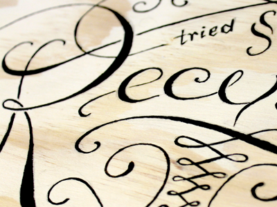 Recipes Box lettering typography type ink brush calligraphy