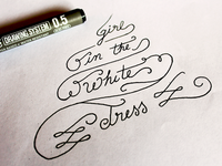 Girl White Dress Sketch