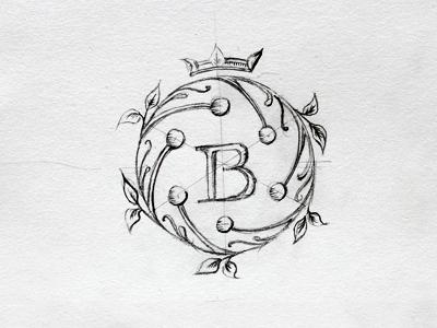 Beretta mark illustration sketch monogram logo