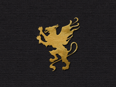 The Gryphon - Solid gryphon griffin heraldry illustration logo