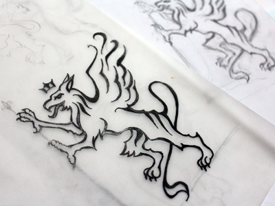 Gryphon - The Sketch gryphon griffin heraldry illustration