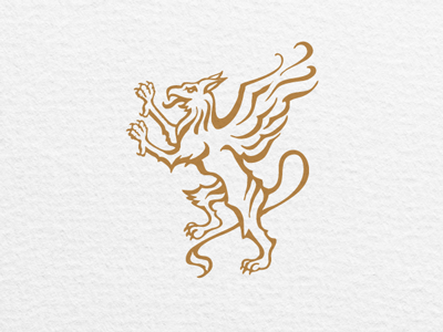 Gryphon - The Vector gryphon griffin heraldry illustration logo