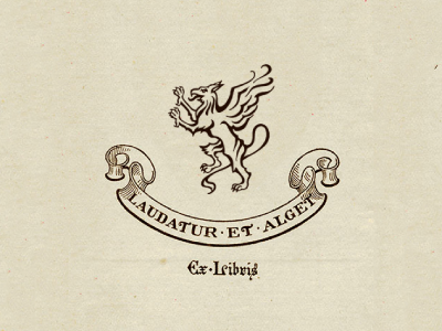 And for a bit of whimsy : the gryphon ex libris heraldry gryphon griffin ex-libris illustration logo