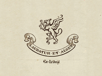 And for a bit of whimsy : the gryphon ex libris