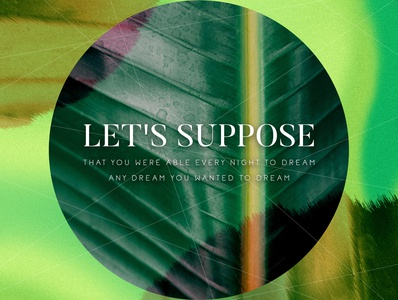 Let's suppose