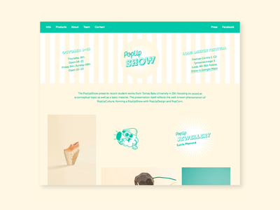 PopUpWeb clean ui website homepage popcorn retro art direction visual identity digital design web ux webdesign