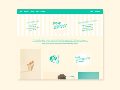 PopUpWeb clean ui website homepage popcorn retro art direction visual identity digital design web ux webdesign