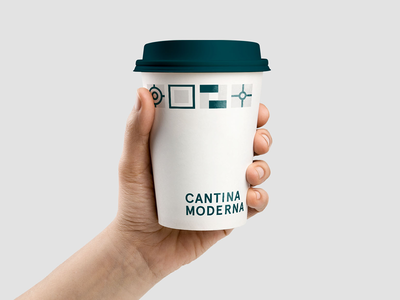 Cantina Moderna canteen cup modern style graphic design icon visual identity visual style logo