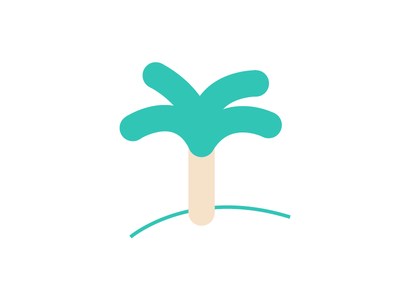 Palm Icon tree minimalistic vector illustration icon palm