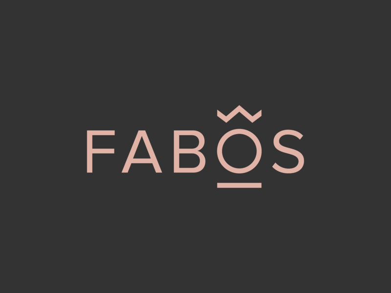 Fabos vector typography graphic design jewelery logotype branding redesign logo
