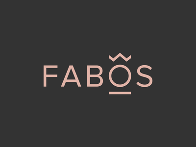 Fabos vector typography graphic design jewelery logotype branding redesign logo