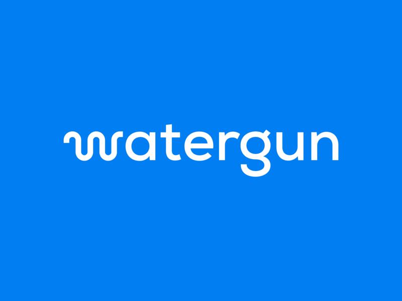 Watergun watergun typography graphic design logo
