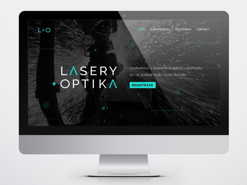 Lasers & Optics optic laser ux ui webdesign logotype logo art direction vector visual identity graphic design
