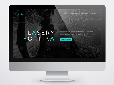 Lasers & Optics optic laser ux ui webdesign logotype logo art direction vector visual identity graphic design
