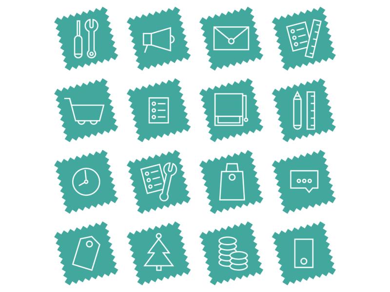 Set of Icons for Unig minimal graphic  design icons icons set