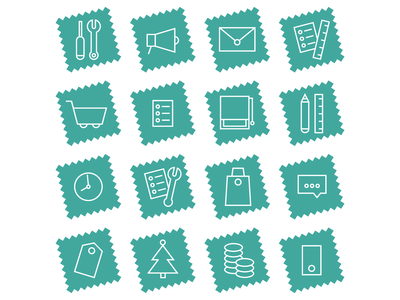Set of Icons for Unig minimal graphic  design icons icons set