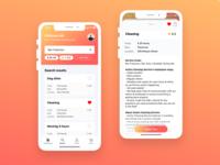 Job seek app design