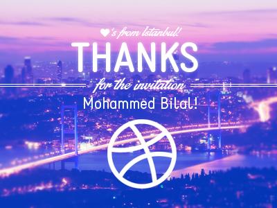 Thanks Bilal! invite invitation