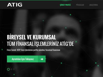 Atig website corporate uidesign ui userinterface slider menu glow