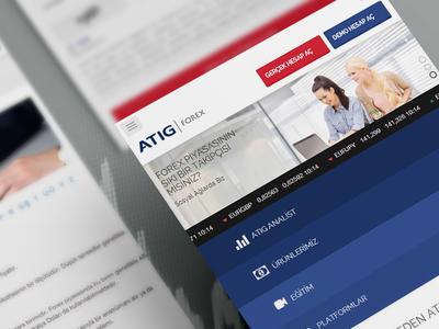Atig - Forex forex website userinterface responsive uidesign ui