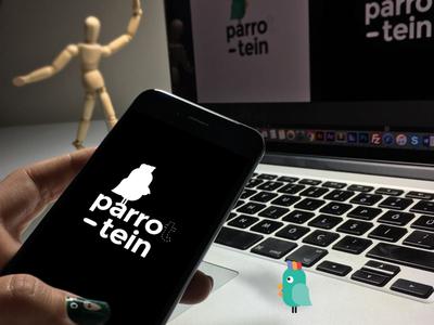 Parrotein Logo Design parrot vector parrotein logo