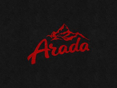 Arada identity mountains logo typeface albania arada