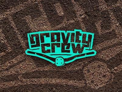 Gravity Crew easternblock identity sports team downhill mountain bike logo gravity crew