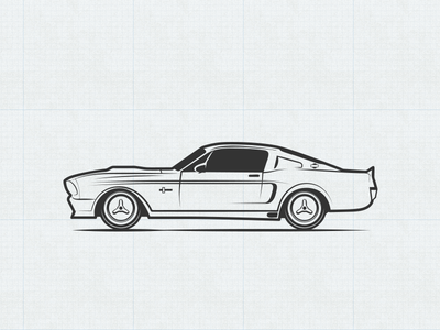 'Stang Icon easternblock vector illustration gt500 fastback eleanor mustang