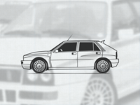 Lancia Delta Integrale illustration